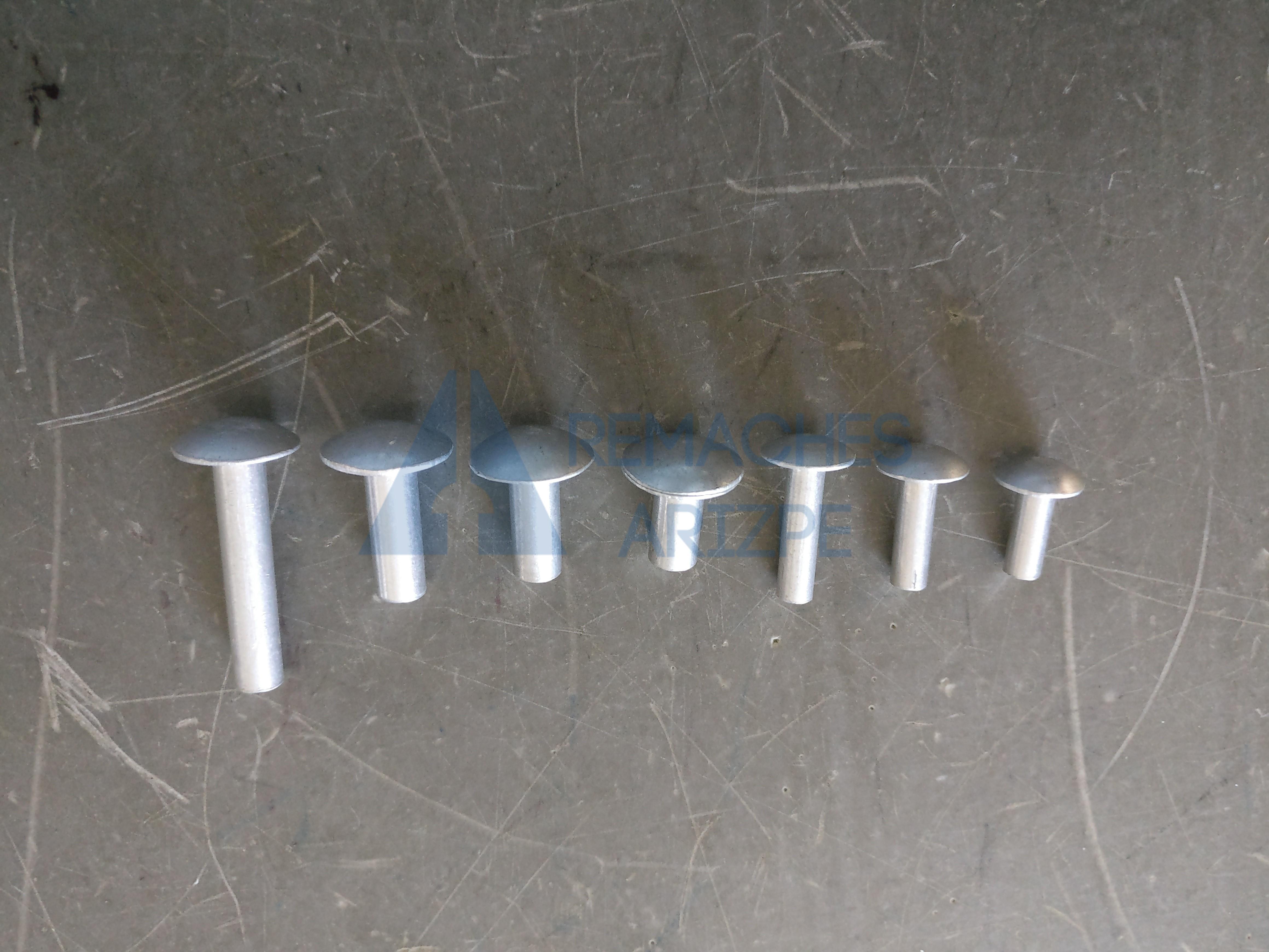 Remache solido de aluminio suave remaches arizpe for Precio de remaches de aluminio